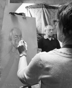 pastelliste-portrait-modèle-vivant-atelier-de-peinture-cours-dessin