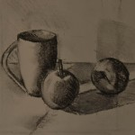 compo-pommes-fusain-christiane-schliwinski