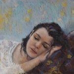 peinture-pastel-portrait-visage-femme-impressionnisme