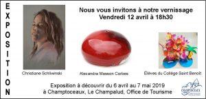 EXPOSITION DE PEINTURE ET SCULPTURE – CHAMPTOCEAUX AU CHAMPALUD